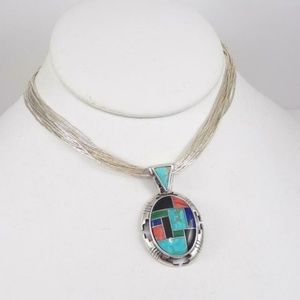 Carolyn Pollack Southwest Sterling Silver Necklace